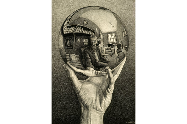"""Hand with Mirror"" by M.C. Escher © The M.C. Escher Company B.V.- Baarn – the Netherlands"