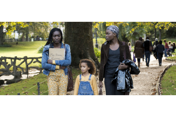 Nadia Moussa as Fanny (left), Maylina Diagne as Marie and Guslagie Malanda as Victoria in MY FRIEND VICTORIA, a film by Jean Paul Civeyrac
