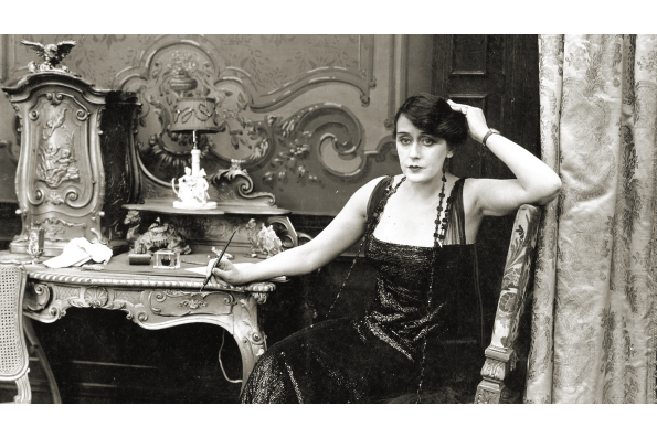 Film still from Playing with Fire (1916), produced by Alice Guy-Blaché Blaché and featuring Olga Petrova. Courtesy of Wisconsin Center for Film and Theater Research.
