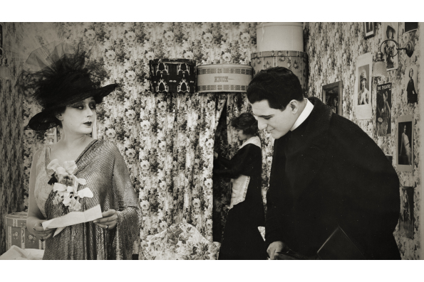 Film still from The Soul Market (1916), produced by Alice Guy-Blaché Blaché and featuring Olga Petrova. Courtesy of Wisconsin Center for Film and Theater Research.